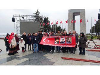 15 Temmuz Şehitlerinin Yakınları Çanakkale Şehitliği'nde