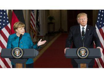 Trump'ın Merkel tavrı olay oldu!