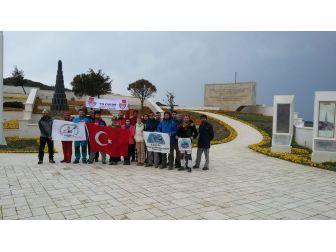 Bursalı Dağcılar Çanakkale'de Şehitleri Andı