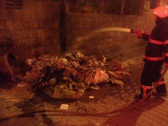 Çöp Konteynerindeki Yangın Paniğe Neden Oldu