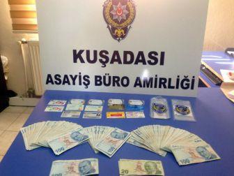 Sahte Kredi Kartı Çetesi Kuşadası'nda Yakalandı