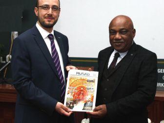 Büyükelçi Tshidimba'dan Başkan Okka'ya Ziyaret