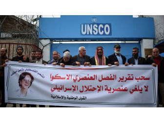 Escwa'nın İsrail Raporunu Geri Çekmesi Protesto Edildi