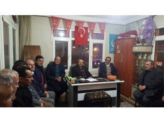 Başkan Yalçın'dan Mhp İlçe Teşkilatına Ziyaret