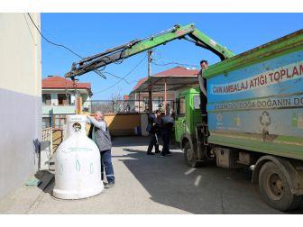 Başiskele'de Her Ay 40 Ton Atık Cam Atık Geri Dönüşüyor