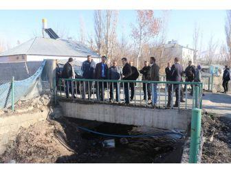 Erzurum Dsi 8. Bölge Müdürü Sadullah Seven Tutak'ta İncelemelerde Bulundu