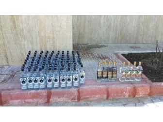 Antalya'da 100 Şişe Votka Ele Geçirildi