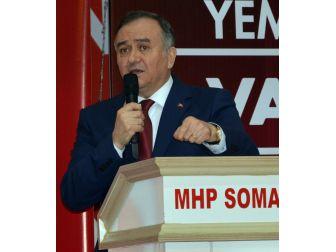 Mhp'li Akçay'dan Soma'da Referandum Çalışması