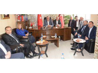 Aksaray Ak Parti'den Mhp'ye Birlik Beraberlik Ziyareti