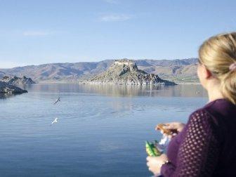 Tunceli'da Barajın Ortasındaki Tarihi Güzellik 'Pertek Kalesi'