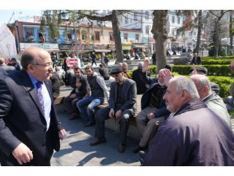 Başkanlar Gümrükçüoğlu Ve Genç, Referandum Çalışmalarını Sürdürüyor
