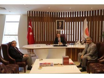 Esnaf Ve Sanatkârlar Odaları Birlik Başkanı Ördü, Rektör Bağlı'yı Ziyaret Etti