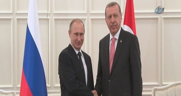 Erdoğan ve Putin'den tarihi görüşme!
