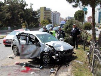 Samsun, Atakum'da Trafik Kazası: 2 Ağır Yaralı (Salih Atik, Koray Dursun)