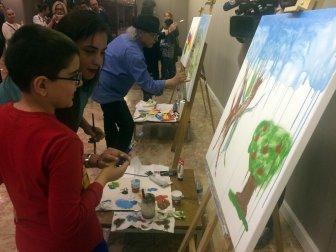 """""""Bir Kent Hayali Ankara"""" Görme Engelli Çocuklar Anlattı, Ressamlar Tuvale Aktardı"""