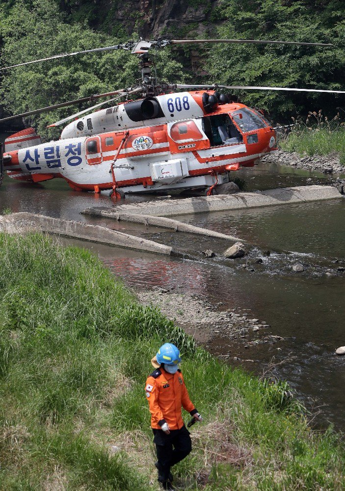 Helikopter kazası- Gerilim hattına çarptı