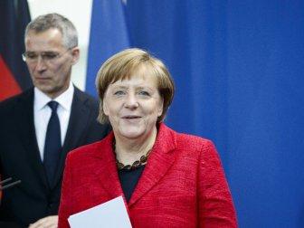 NATO Sekreteri Stoltenberg, Merkel'le Görüştü