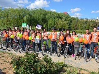 Kırıkkale Üniversitesi Genç TEMA ve Doğa Topluluğu Gönüllüleri Doğa İçin Pedalladılar
