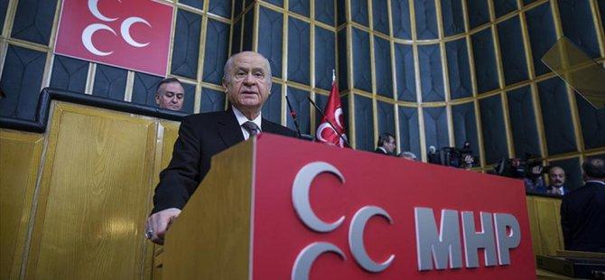MHP Lideri Bahçeli'den Erdoğan'a tam destek!