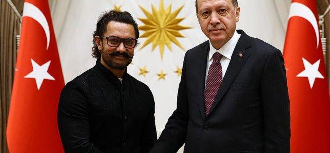 Cumhurbaşkanı Erdoğan, Aamir Khan'ı kabul etti