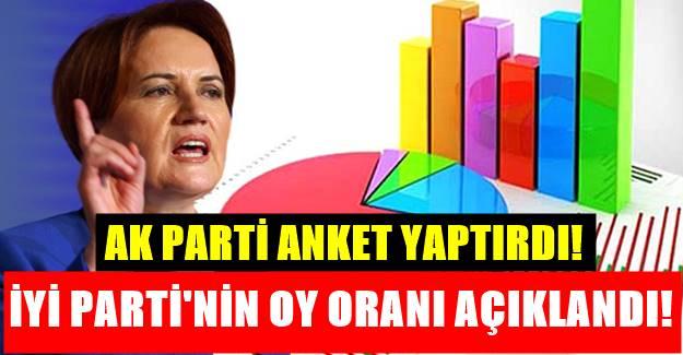 AK Parti'nin seçim anketinden İYİ Parti'nin alabileceği oy oranı açıklandı