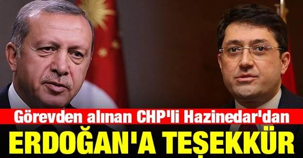 Görevden Alınan Beşiktaş Belediye Başkanı Hazinedar'dan Erdoğan'a teşekkür