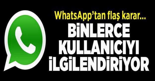 WhatsApp'tan flaş karar: O özellik artık yok