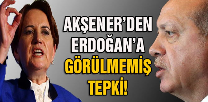 Akşener'den İYİ Parti'yi dinlemeyen Erdoğan'a: Millet de seni..