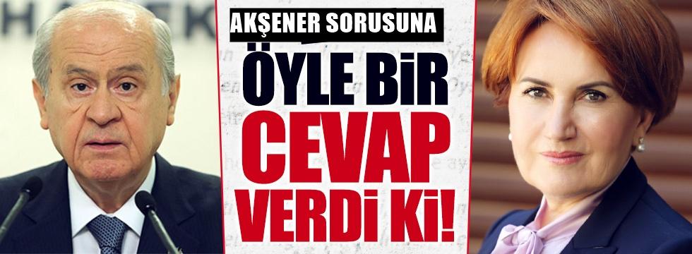 Devlet Bahçeli'den Meral Akşener tepkisi: Bize sormayın