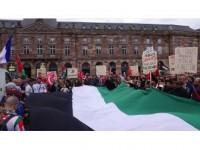 Fransa'da Filistin'e Destek Gösterileri Düzenlendi
