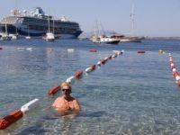 Türkiye'de İlk Olan Görme Engelliler Yüzme Parkuru Bodrum'da Açıldı