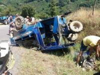 Zonguldak, Alaplı'da Tarım Aracı Devrildi, 52i Çocuk Toplam 6 Kişi Yaralandı