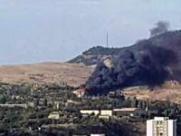 Ankara, Mamak'ta Askeri Kışlada Çatı Yangını