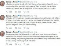 """ABD Başkanı Trump: """"Putin İle İyi İlişkimiz Birçok Kişiyi Rahatsız Etti"""""""