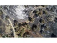Antalya'daki Orman Yangınında Kül Olan 60 Hektarlık Alan Havadan Görüntülendi