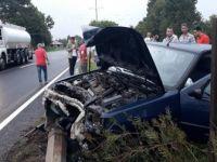 Samsun'da Sağanak Yağış Nedeniyle Otomobil Takla Attı: 2 Yaralı
