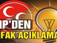 Cumhur ittifakı bitti: MHP tek başına