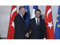 Cumhurbaşkanı Erdoğan İle Macron Görüştü