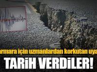 Marmara'da beklenen büyük deprem için tarih verdiler