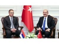 İçişleri Bakanı Soylu, Sırp Mevkidaşı İle Görüştü