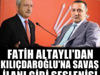 Altaylı'dan Kılıçdaroğlu'na: Berbat bir politikacıya dönüştünüz