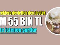 Evleneceklere 55 bin lira devlet katkısı! Çiftler ayrı ayrı