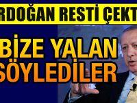 Cumhurbaşkanı Erdoğan'dan Yalan Söylediler Açıklaması