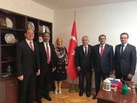 Üsküp Büyükelçisi Tülin Erkal Kara'ya HSYK üyelerinden ziyaret