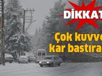 Meteoroloji'den şiddetli kar uyarısı! İstanbul'a kar geliyor... .