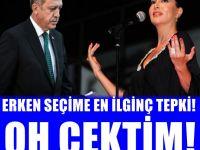 Ebru Yaşar'dan şokeden erken seçim yorumu: Erdoğan açıklayınca oh çektim
