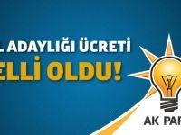 AK Parti vekil adaylığı ücreti belli oldu!