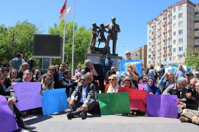Diyarbakır'daki CHP Eylemine HDPliler de Destek Verdi